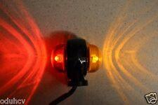 2x 24V LED Red Orange Side Marker Lights Lamps for Truck Iveco Scania Renault