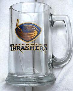 2 Atlanta Thrashers Hockey Team Glass Beer Mugs Stein NHL vintage sports