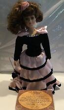 Vintage Porcelain Doll By Artmark Debutante Doll Rowena With Original Box & Coa