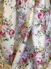 1 Yard! Vintage Roses Shabby Chic,Flowers Cotton light Ivory Color.