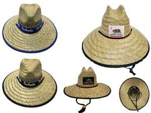 Straw California Big Brim Hat Beach Ranch Cowboy Upbrim Style Sun Men or Women