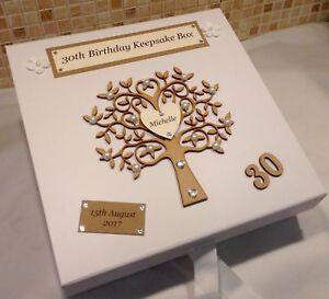 Birthday Keepsake Box, Memory Box, Memory Keepsakes, Birthday Gifts Keepsake Box