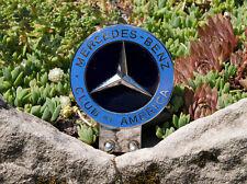 VINTAGE ENAMEL AUTOMOBILE CAR CLUB BADGE # MERCEDES BENZ CLUB OF AMERICA USA