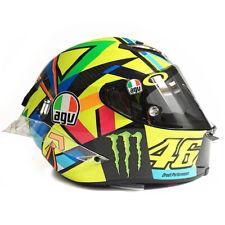 Signed Valentino Rossi Helmet AGV Soleluna GP R Carbon Pista - 2016 MotoGP