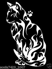 Cute Cat With Paw white car window vinyl sticker decal Funny 6""
