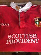 Adidas británico e irlandés Leones Camisa 1997 Sudáfrica Tour Talla Xl Manga Larga
