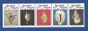 Marshall Islands (#123a) 1986 Seashells MNH strip