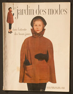 'LE JARDIN DES MODES' FRENCH VINTAGE MAGAZINE FEBRUARY 1949