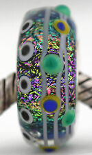 ABSTRACT ART sterling silver core european murano glass charm bead lampwork MWR