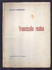 FRANCISCALIA REATINA di Angelo Semeraro