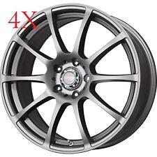 Drag Wheels DR-49 18X8 5/114 +45 offset Charcoal Gray Rims For Mazda6 Mazda3 MX5