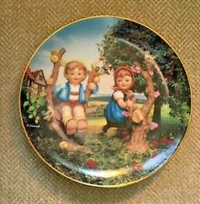 1989 Hummel Apple Tree Boy & Girl Vintage Collectible Plate Serial Numbered