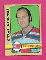 1972-73 OPC WHA # 309 OTTAWA BOB CHARLEBOIS ROOKIE HIGH # VG+ CARD(INV# C5991)