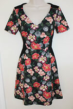 V-Neck Short Sleeve Casual Floral Dresses for Women