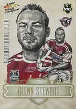 2009 NRL SELECT CHAMPIONS WESTS MANLY GLENN STEWART COMMON PROMO CARD FREE POST