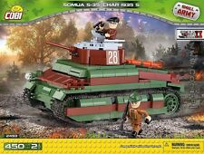Tank Cobi Somua S-35 (Char 1935s) French Tank blocks nr 2493 panzer small army