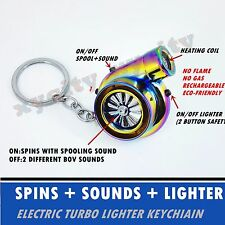 Rechargeable Electric Turbo Lighter Neochrome with BOV Sound Creat Gift For Man