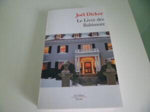 JOEL DICKER : LE LIVRE DES BALTIMORE