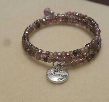 Purple Coil Beaded Bracelet