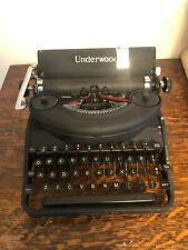 1940's Vintage Underwood Noiseless 77 Typewriter With case.