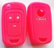 PINK SILICONE FLIP KEY COVER SUITS HOLDEN CHEVROLET COLORADO AVEO CRUZE