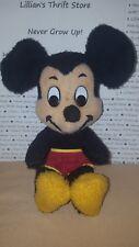 "Vintage Walt Disney Mickey Mouse Plush Toy Character California Stuffed Toys 16"""