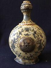 Art Kadjar Bottle Tin Coated Brass Painting Pattern Royal India