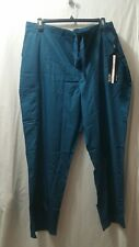 Nwt Cherokee Luxe Mens 2Xl 1022 Caribbean Teal Pull On Zip Fly Front Scrub Pant