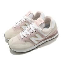 New Balance 574 Pink Beige White Women Classic Casual Shoes Sneakers WL574LBL B