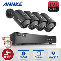 ANNKE 4x 960P HD Security Cameras 4CH 1080P Lite DVR Email Picture Motion System