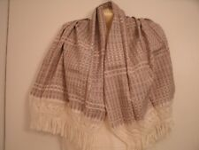 SCARF CROCHETED FRINGE COPPER BROWN, BLACK & IVORY - NEW!