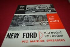 Ford Tractor 100 130 Bushel Manure Spreaders Dealers Brochure AMIL15