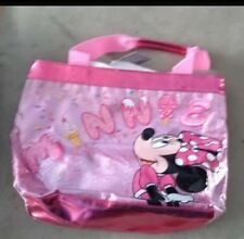 New with Tags Disney Minnie Mouse Pink Glitter Sparkle Totebag Purse Ice Cream