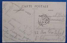 France carte avec cachet gare de Lyon (Rhône) 1914