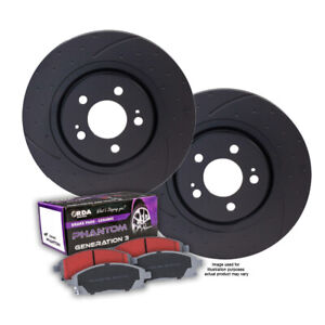 DIMPLED SLOTTED FRONT BRAKE ROTORS + PADS for Toyota Hilux KUN26R 11/2008-5/2015