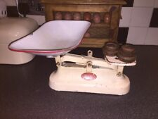 Vintage Lincoln Kitchen Balance Scales with Weights