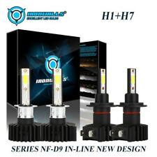 Combo H1 + H7 LED Headlight 4400W 660000LM Bulb Kit Hi-Lo Beam Xenon 6000K 4PCS