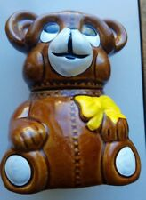 "Collectible Teddy Bear, ©Houston Foods 1982, Made in Taiwan, 3½"" x 5"""