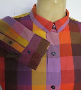 SHIRT Long sleeve COTTON Plaid TOP Check BLOUSE Button down Liz Claiborne Sz S