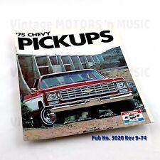 1975 NOS Uncirculated Chevrolet PICKUPS C10 C20 C30 K10 K20 Sales Brochure #3020