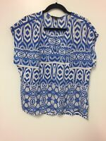Portman's top blue and white print size 14 Women's Work/casual/party