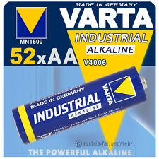 """""""52x VARTA Batterie MIGNON AA V4006 LR6 INDUSTRIAL"""