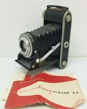 Agfa Ansco VIKING 4.5  Folding Camera Agfa Agnar 1:4.5 105 Pronto Shutter w Man