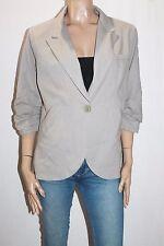 Esley Designer Grey Gathered 3/4 Sleeve Jacket Size 1XL BNWT #JA146