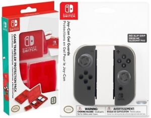 PDP Nintendo Switch Premium Joy-Con GEL Guards and Traveler protector Pack LOT