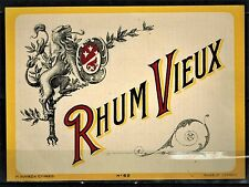 Etiquette de Vin -Alcool - Rhum Vieux - Neuve- Never Stuck - Réf.n°30