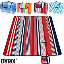 DETEX Picknickdecke XXL 200 x 200cm Wasserdicht Campingdecke Reisedecke Isoliert