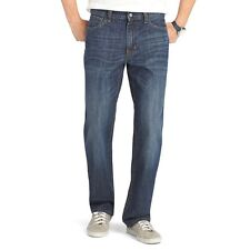 New $60 IZOD Mens W42x30L Relaxed-Straight Jeans Mid-Rise Denim Pants Vintage