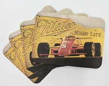 Vintage Miller High Life Advertising Paper Coaster/Post cards Lot of 4