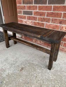 Rustic handmade bench